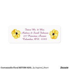 Customizable Floral RETURN ADDRESS LABRLS