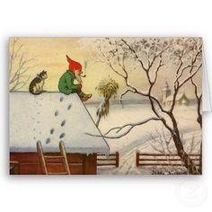 Traditional Swedish Christmas Card - Jenny Nyström