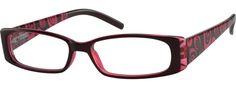 Women's Red 2681 Plastic Full-Rim Frame with Spring Hinges | Zenni Optical Glasses-NZeW8iv3