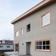 HA-HOUSEの部屋 外観 Modern Japanese Architecture, Facade Architecture, Japan Modern House, Timber House, Construction Design, House Entrance, Japanese House, Facade House, Modern Buildings