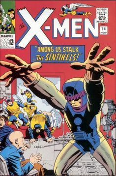 X-Men #14. The First Appearance of the Sentinels!!!  Auction your comics on http://www.comicbazaar.co.uk