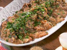 Veal Scaloppine with Mushroom Marsala Sauce Recipe : Nancy Fuller : Food Network Veal Marsala, Marsala Sauce, Marsala Recipe, Veal Recipes, Dinner Recipes, Cooking Recipes, Dinner Ideas, Lamb Recipes, Dinner Menu