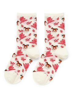HANSEL FROM BASEL - Quixote crew socks | Multi-colour Socks | Womenswear | Lane Crawford