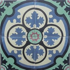Cement Tile Shop - Encaustic Cement Tile Philadelphia ... The Bouchon tile - found!!! In red, blue, black