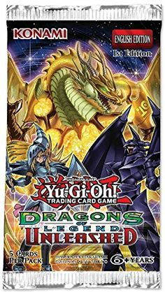 Collectible Trading Card Booster Packs - Yugioh 1x Dragons of Legend Unleashed Booster Pack -- Learn more by visiting the image link.