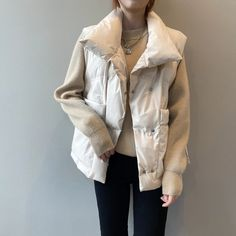 Loose Fashion Big Pocket Cotton Vest | Down Vest, Puffer Vest, puffer outfit Cotton Vest, Vest Outfits, Down Vest, Puffer Vest, Types Of Collars, Clothes For Women, Latest Clothes, My Style, Outfits