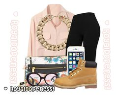 """""""I Can Be Your Favorite!"""" by royaldopeness ❤ liked on Polyvore featuring Topshop, Prada and Timberland"""