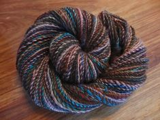 Gemstone Grotto handspun merino and alpaca yarn, 155 yards sport weight.