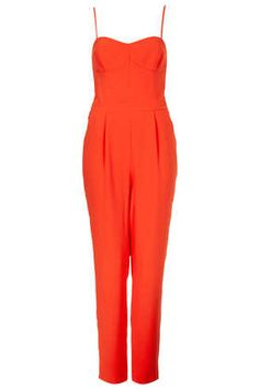 Not sure if I'm feeling the long crotch and idk if this will look good on me but it's cute. Strappy Cup Jumpsuit #topshop