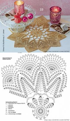 How to read this kind of pattern? Filet Crochet, Crochet Doily Diagram, Crochet Mandala Pattern, Crochet Chart, Thread Crochet, Crochet Patterns, Crochet Sunflower, Pineapple Crochet, Crochet Flowers