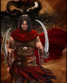 Prince of Persia: ''Warrior Within'' by Servia-D Prince Of Persia, Prince Warrior, Persian Warrior, Arte Peculiar, Warrior Within, Pop Art Women, The Legend Of Heroes, Sword Design, Luis Royo