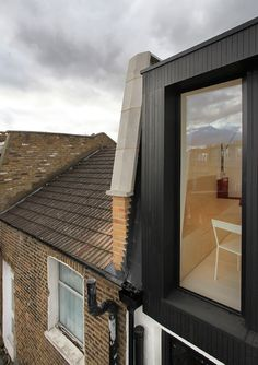 Two houses in west London reshuffled to create a pair of double-fronted flats Roof Extension, Extension Veranda, Glass Extension, Modern Loft, Second Floor, Building Design, Loft Room, Bedroom Loft, Dormer Windows