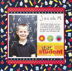 Pebbles Inc: Simple Back-to-School Page Layout #backtoschool #scrapbooking #pebblesinc