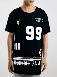 Black 99 Play Oversized Long line T-Shirt