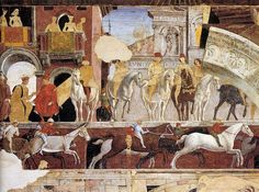 Palazzo Schifanoia  : Francesco del Cossa - Allegory of April (detail)  Palais Schifanoia