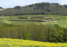 Cantina Antinori Winery and Graphic Design By Archea Associati in Italy