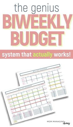 Need help paying monthly bills with biweekly paychecks? Check out this definitive guide to budgeting paychecks every other week. Budgeting Money | How to Budget | Managing Your Money Budgeting System, Budgeting Finances, Budgeting Tips, Best Money Saving Tips, Money Saving Challenge, Budget Spreadsheet, Budget Planner, Making A Budget, Making Ideas