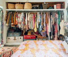 The One Product That Seriously Boosted My Closet Space — Apartment Therapy Bohemian House, Bohemian Apartment, Bohemian Interior, Vintage Apartment, Boho Life, Bohemian Gypsy, Gypsy Style, Hippie Style, Bohemian Style