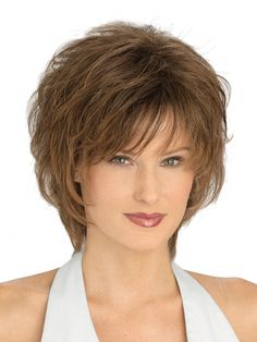 Every day is a great hair day with the Ultima Synthetic Wig by Louis Ferre. Short Hair With Layers, Layered Hair, Short Hair Cuts, Medium Hair Styles, Curly Hair Styles, Corte Y Color, Haircut And Color, Synthetic Wigs, Great Hair