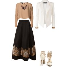 A fashion look from November 2014 featuring By Malene Birger tops, Alexandre Vauthier blazers and Martin Grant skirts. Browse and shop related looks.