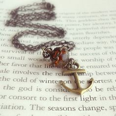 Autumn Anchor Necklace  Vintage Style by theblackstarboutique, $25.00