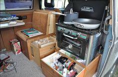 Vanagon Weekender interior idea (kitchenette)