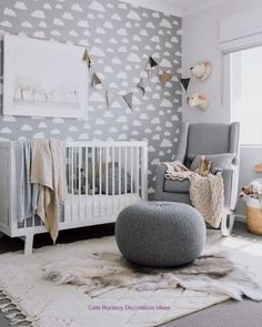 ideas for baby room unisex nursery inspiration Baby Nursery Neutral, Gender Neutral Baby, Baby Nursery Decor, Nursery Themes, Baby Decor, Nursery Room, Neutral Nurseries, Baby Bedroom Ideas Neutral, Babies Nursery