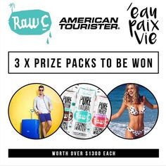 WIN 1 of 3 #wintermeetssummer prize packs including a $100 EAU PAIX VIE voucher 3 boxes of NATURAL RAW C Coconut Water & a rockin Lock N Roll American Tourister suitcase!  How to enter:  1. Follow @americantourister_au @eaupaixvieswimwear & @naturalrawc on Instagram  2. Like this #wintermeetssummer competition image on one of the Instagram handles  3. Tag a friend you would like to travel to a beach to drink coconut water with  One entry per Instagram account Australian and New Zealand…