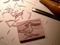 a Stamp a Day: a bird, or how to make a stamp