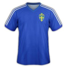 Sweden away shirt for the 2006 World Cup Finals. 2006 World Cup Final, Finals, Polo Ralph Lauren, Polo Shirt, Sweden, Mens Tops, Shirts, Fashion, Moda