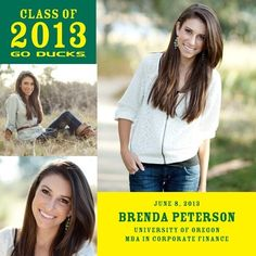 Oregon Pride - College Graduation Announcements in Forest Green | University of Oregon