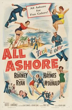 """""""All Ashore"""" (1953) starring Mickey Rooney on Antenna TV -- 11/21/2012 (Wed) at 7a ET & 11/23/2012 (Fri) at 5a ET."""