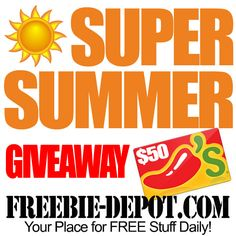 ►► FREE Super Summer Giveaway - FREE Chili's Gift Contest - Through 7/15/15 ►► #Contest, #FREEStuff, #Freebies, #Giveaway, #Sweepstakes ►► Freebie-Depot