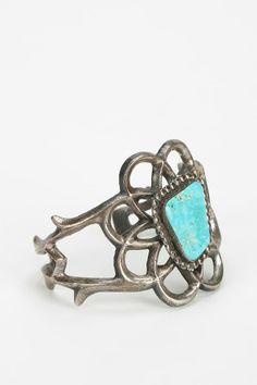 Vintage Turquoise Wide Cuff Bracelet
