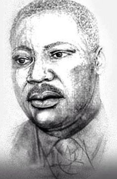 In honor of Martin Luther King day, here is a portrait of him, drawn by................Michael Jackson!!!