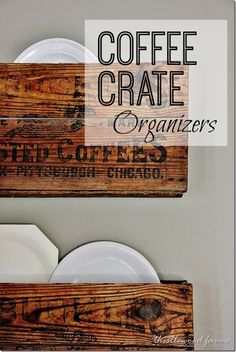 Coffee Crate Organizers with complete DIY and a Linky Party
