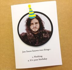 Game Of Thrones Jon Snow Papercut Hand Made Blank Birthday Card - Greetings Card - Can Be Personalised by DoodleDovesPapercuts on Etsy https://www.etsy.com/listing/400187685/game-of-thrones-jon-snow-papercut-hand
