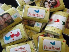 chocolates for a wedding party / souvenirs de casamiento