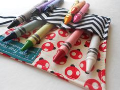 Mini Crayon Roll -  Oops a Daisy Ladybug #blackfriday #giveaways