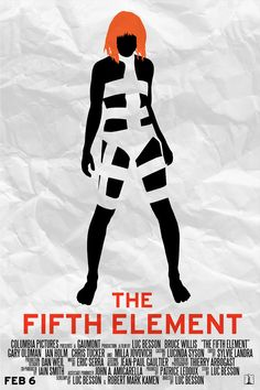 The Fifth Element Retro Minimalist Poster by thenewmessiah