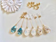 【new!】スワロフスキーの揺れるキラキラ雫型 pierce/earring | ハンドメイドマーケット minne