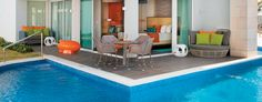 In addition to its main pool, Nickelodeon Punta Cana offers Swank Swim-up Suites.