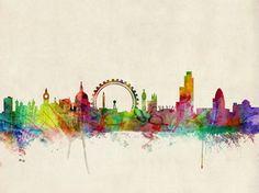 London Skyline Fotografisk tryk