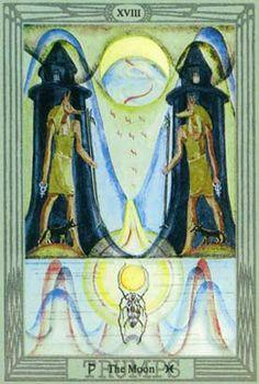 A Lua no Thoth Tarot de Crowley e Frieda Harris
