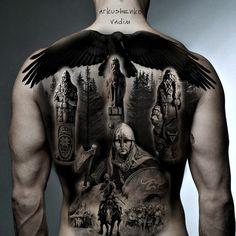 Norse Tattoo, Raven Tattoo, Dark Tattoo, Celtic Tattoos, Viking Tattoos, Warrior Tattoos, Badass Tattoos, Body Art Tattoos, Sleeve Tattoos
