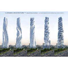 Rotating buildings in Dubai