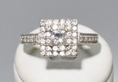 Vintage Diamond Engagement Wedding Ring White Gold Size 7 by uniqx