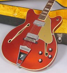 1967 Fender Coronado II Candy Apple Red Custom Color Clean Guitar