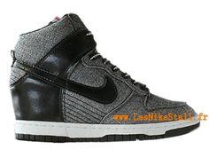 Officiel Nike DUNK SB GS - Chaussures Basketball Nike Pas Cher Pour Femme Noir/Girs 528899-ID6