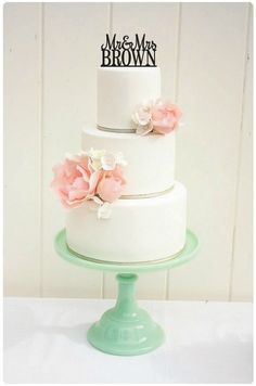 i-Tüpfelchen für eure Hochzeitstorte - Cake Topper